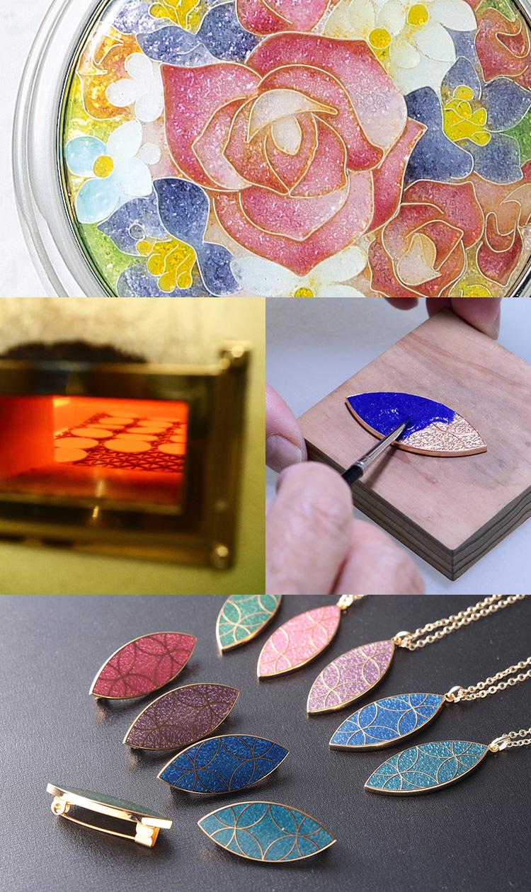 京七宝の製品製造